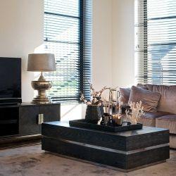 Salon Bony chêne noir/gris argent