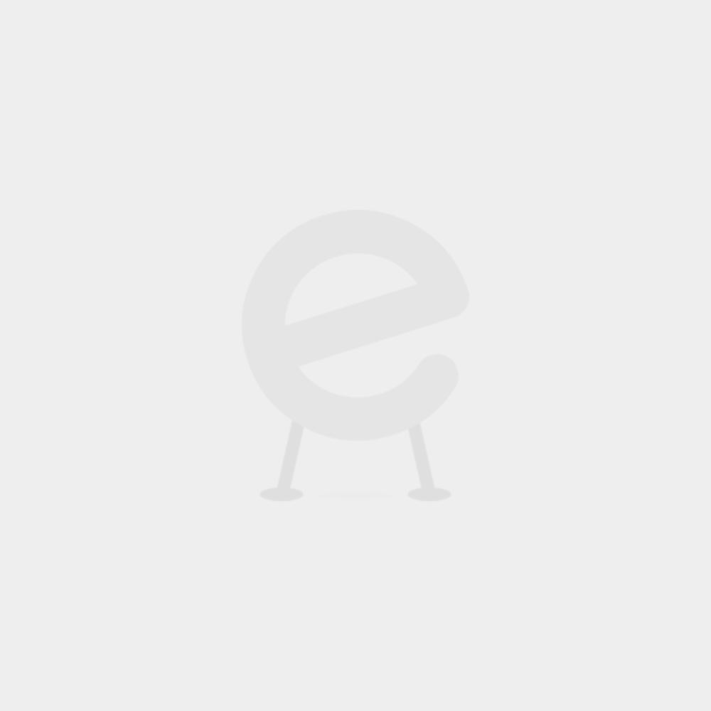 Lit superposé Milan laqué blanc - pieds en hêtre