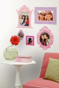 RoomMates stickers muraux - Cadres photos rose et mauve