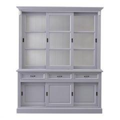 Buffet Provence - 180 cm - gris / blanc