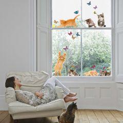 Stickers pour fenêtre Cats