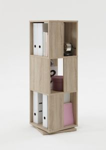Meuble classeur Tower - chêne brun
