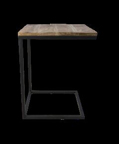 Table d'appoint Rick - bois de manguier / fer robuste