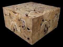 Table d'appoint Mosaïque - 80x80 cm - teck