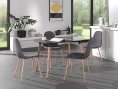 Table 'Evi' 140x80 Blanc mat