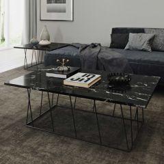 Table basse Helix - marbre noir