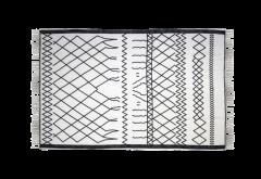 Tapis - coton - 180x120 cm - noir et blanc