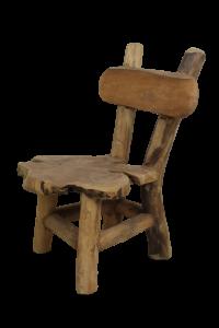 Chaise haute Flinstone - teck ancien