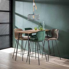 Pied de table conique - 3D Chêne brun