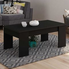 Table basse Ramos avec plateau relevable - noir