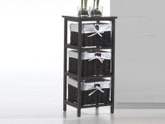 Rangement Kubo 3 tiroirs - brun
