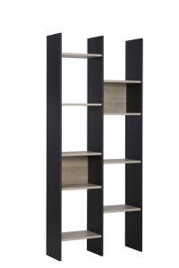 Bibliothèque Queens - noir/sonoma