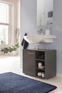 Meuble sous lavabo Benny - gris graphite