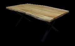 Table de repas SoHo - 175x90 cm - acacia / fer