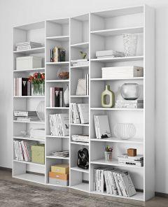 Bibliothèque Varna modèle 3 - blanc