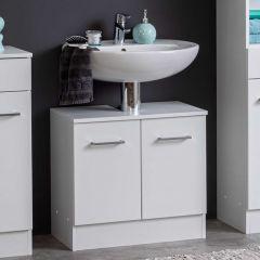 Meuble sous lavabo Ricca 60cm 2 portes - blanc