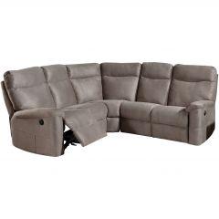 Canapé d'angle Lago avec 2 fauteuils relax