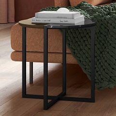 Table d'appoint Sonata - noyer/marbre noir