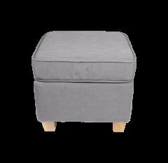 Suspension pour fauteuil Anton - gris clair / pieds vintage - lin