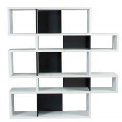 Bibliothèque Lisbon 2 - blanc/noir