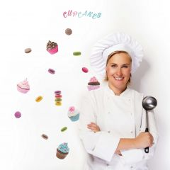 Stickers muraux Cupcakes & Macarons