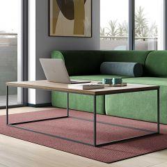 Table basse Gleam 120x75 - noyer/acier