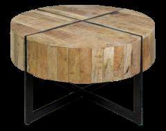 Table basse Jackson - ø75 cm - bois de mangue / fer