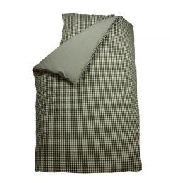 Housse de couette junior 120x150 cm Carreaux - gris