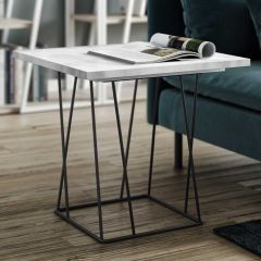 Table d'appoint Helix - marbre blanc