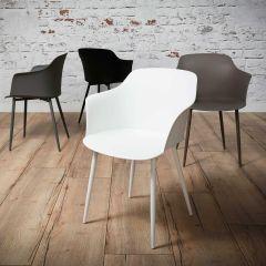 Lot de 4 chaises coquille Frederick - blanc