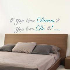 Sticker mural Dream & Do it avec citation