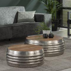 Set de 2 tables basses Saxon