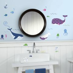 Stickers muraux Sea Whales - 50 stickers