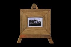 Cadre photo - petit - 27x23 cm - teck