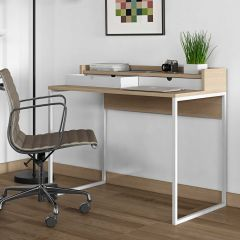 Bureau Riise - chêne/blanc