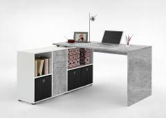 Bureau Lex - béton/blanc