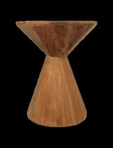 Table d'appoint sablier - bois recyclé