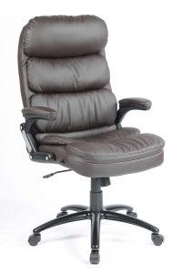 Chaise de bureau Dave - brun foncé
