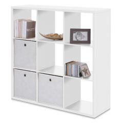 Cube de rangement Max 9 niches - blanc