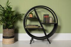 Etagère de décoration - fer / bois de mangue - naturel