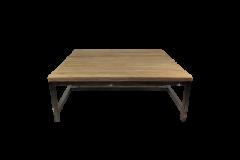 Table basse Hunter - 80x80 cm - teck / fer recyclé
