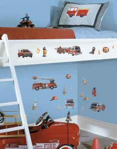 RoomMates stickers muraux - Pompiers