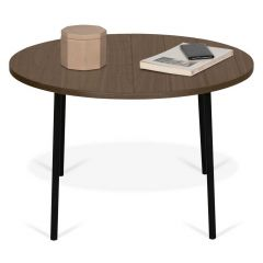 Table basse Ply Ø70cm - noyer