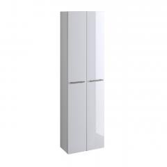 Colonne salle de bains Small 50cm 2 portes - blanc brillant