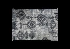 Tapis - coton - 180x120 cm - gris