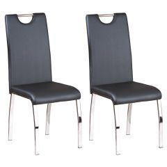 Lot de 2 chaises salle à manger Texas - noir