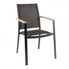 Chaise de jardin Billie - noir