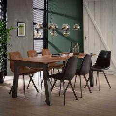 Table à manger 210 edge 25mm - Massif acacia naturel