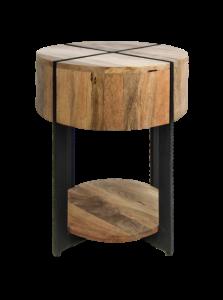 Table d'appoint Jackson - ø40 cm - bois de mangue / fer