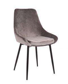 Lot de 2 chaises en velours Mirano - gris